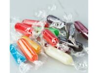 Assorted Rods Hard Candy ONE Pound (1LB) Bag Bulk FREE SHIP Fruit Flavors