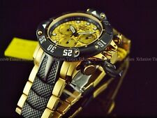 Invicta Men 50mm Subaqua God Of The Sea Poseidon Chronograph 18KGP TT Bracelet