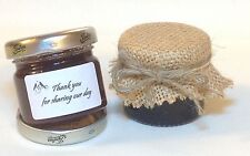 Jam covers//wedding favourPACK includes bands personalised jar labels /& twine x20