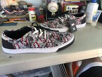 NEW MARVEL x TOMS SPIDER-MAN PRINTED MENS SIZE 14 CARLO SNEAKERS SHOES ORTHOLITE