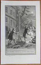 J. de la Fontaine: Fable Fine Engraving The animal in the Moon - 1786