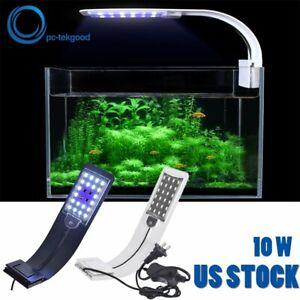 10W Aquarium  LED Clip-on Lamp Aquatic Grow Plant Light For Fish Tank Super Slim