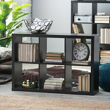 Brown 6 Cube Shelf Bookcase Home Living Room Furniture Office Bedroom Storage