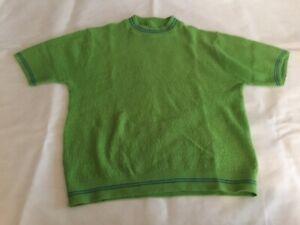 Vintage Sportswear Short Sleeve Green Sweater Mens Medium