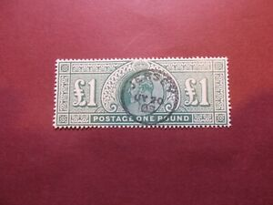 GB~1902/10~ EDVII~£1 Green~Forgery~Reproduction~cat £825~SG266~ uk seller