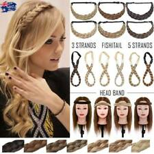 AU Fashion Strand Plaited Chunky Braided Hair Extensions Headband Adjustable 68