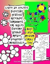 Livro de Colorir Grande Médio Pequeno Aprender Tamanhos Em Inglês para...