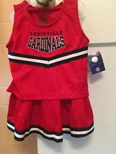 louisville cardinals cheerleading outfit size 6x