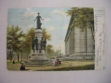 """VINTAGE POSTCARD """"THESE ARE MY JEWELS"""" STATUE IN COLUMBUS, OHIO 1907 UDB"""