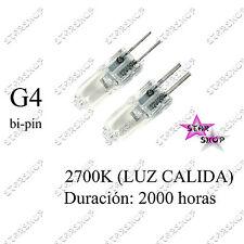 2 BOMBILLA HALOGENA G4 BI-PIN 20W 2000H 12V HALOGENO BAJO CONSUMO LAMPARA LAMP