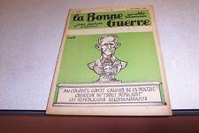 REVUE SATIRIQUE LA BONNE GUERRE 23 nov 1935 CARB