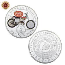WR Rare Motorcycle Souvenir Coin with Silver Bultaco Astro Model Design Gifts