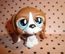 FIGURINE CHIEN BASSET MARRON BEIGE  Bassett Hound, , blue eyes, # 502