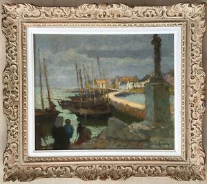 Superbe tableau peinture Louis Marie DESIRE LUCAS peintre breton Bretagne