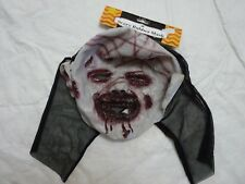 Halloween Scary Rubber Mask Bloody Slashed Face NEW