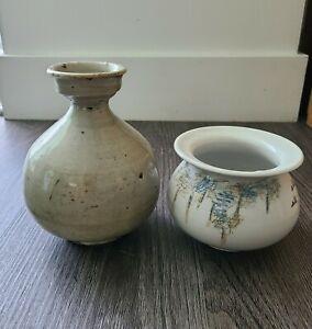 KOREA Antique White Porcelain Vase Jar Sake Bottle JOSEON DYNASTY