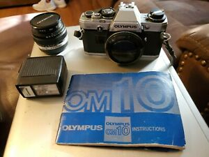 Olympus OM-10 35mm SLR Film Camera w/ 50mm Lens, Manual