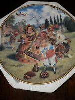"""Alice In Wonderland """"Croquet With The Queen """"By Scott Gustafson  Plate"""