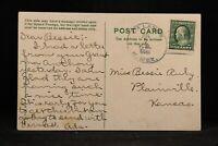 New Mexico: La Lande 1910 Birthday Territorial Postcard, DPO De Baca Co