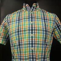 Tommy Hilfiger Mens Shirt SMALL Short Sleeve Multicoloured Custom Fit Check