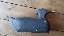 Antique Folk Art Hand Made Duck Decoy Blue