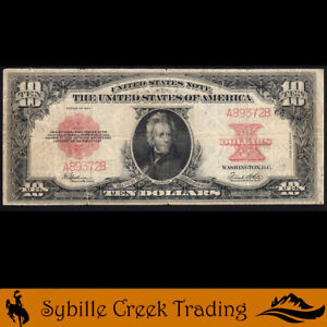 SCARCE 1923 $10 LEGAL TENDER *POKER CHIP* Fr 123   A89372B
