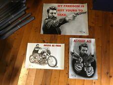 Ned Kelly. 3 x Vinyl bar banner mancaveidea man cave poster home decor idea gift