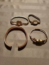 Antique Victorian Yellow & Gold GF Filled Bracelets,watches for scrap 75G A1