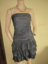 Tammy ~ Blue Denim Look Tiered Jersey Strapless Dress Age 16 Years / Size 8 BNWT