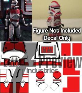 Lego Star Wars Clone Shock Trooper Waterslide Decal (Pack of 2)