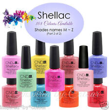 CND SHELLAC GEL UV COLOR~Full CND Range Available~Select your shade*Colours M ~Z