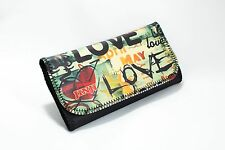 Pu Leather Wallet Purse Tobacco Case Pouch Bag Cigarette Rolling Love