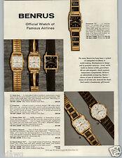 1959 PAPER AD 3 PG Benrus Waltham Wrist Watch Golden Regent 25 Jewel Rototron 53