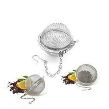 2x ACERO INOXIDABLE Suelto Infusor de Té Hoja Colador filtro Herbal Especias