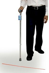 laser cane with audio step counter & inactivity timer for parkinson's disease