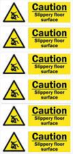 6 Caution slippery floor surface, adhesive vinyl Sign, Warning Safety Sticker