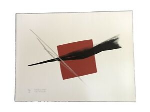 TOKO SHINODA Japanese Lithographic Print FULFILLMENT - with SILVER Brush Strokes