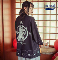 Japanese Harajuku Kawaii Ninja Bunny Print Lolita Cardigan Coat Haori Kimono
