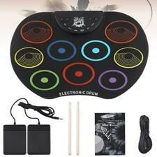 Roll Up Drum Set Portable Electronic Drum Kit 9 Colorful Silicon Drum Pads Gifts