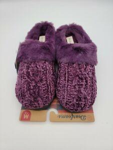 Dearfoams Woman's Clog Memory Foam Slippers Indoor/Outdoor US Size M 7-8 Purple
