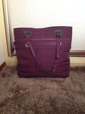 New Thirty one Vary You Tote Bag Purse Gifts  Purple Quilted Dot