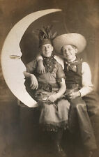 New ListingVintage Rppc Postcard Halloween Costumes Paper Moon Studio~Gay Interest