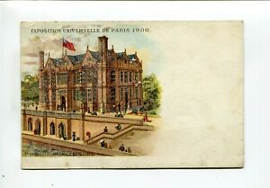 Exposition Paris 1900 postcard Pavillon