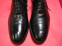 NICE! Men's Dress Shoes COLE HAAN Cap Toe Oxford Sz 10.5 M Black Leather