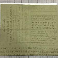 Blackbird Designs Hyde Park Fabric Panel Alphabet Sampler 2761-15 English Ivy
