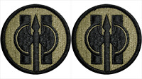 2 Pack U.S. Army 11th Military Police Brigade OCP Hook Military Patches