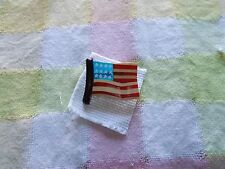 American Flag Pin- Wooden And Resin Or Acrylic-Really Nice!