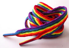 Rainbow Laces Gay Pride Multi Coloured Flat 10mm Shoes Trainers Shoelaces LGBTQ