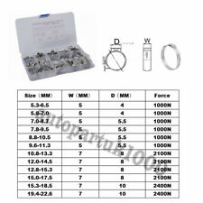 Stainless Steel 12 Kinds 1 Ear Single O-Clips Hydraulic Hose Clamp Pipe Fuel Air