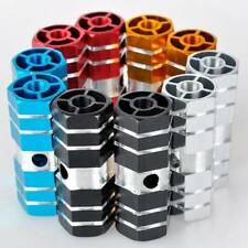 1 Pair Mountain Axle Pedal Alloy Foot Stunt Pegs Cylinder Non-Slip For Bike hot